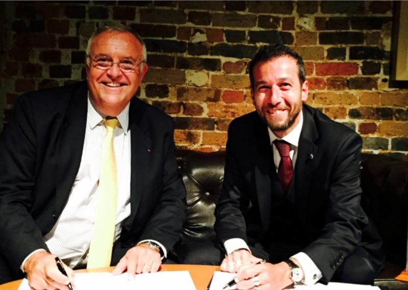 Patrick Alexandre, DG commercial, ventes et alliances Air France-KLM et Erminio Eschena, DG France, Belgique et Luxembourg de MSC Croisières, ont conclu un nouveau contrat d'affrètement - DR : MSC