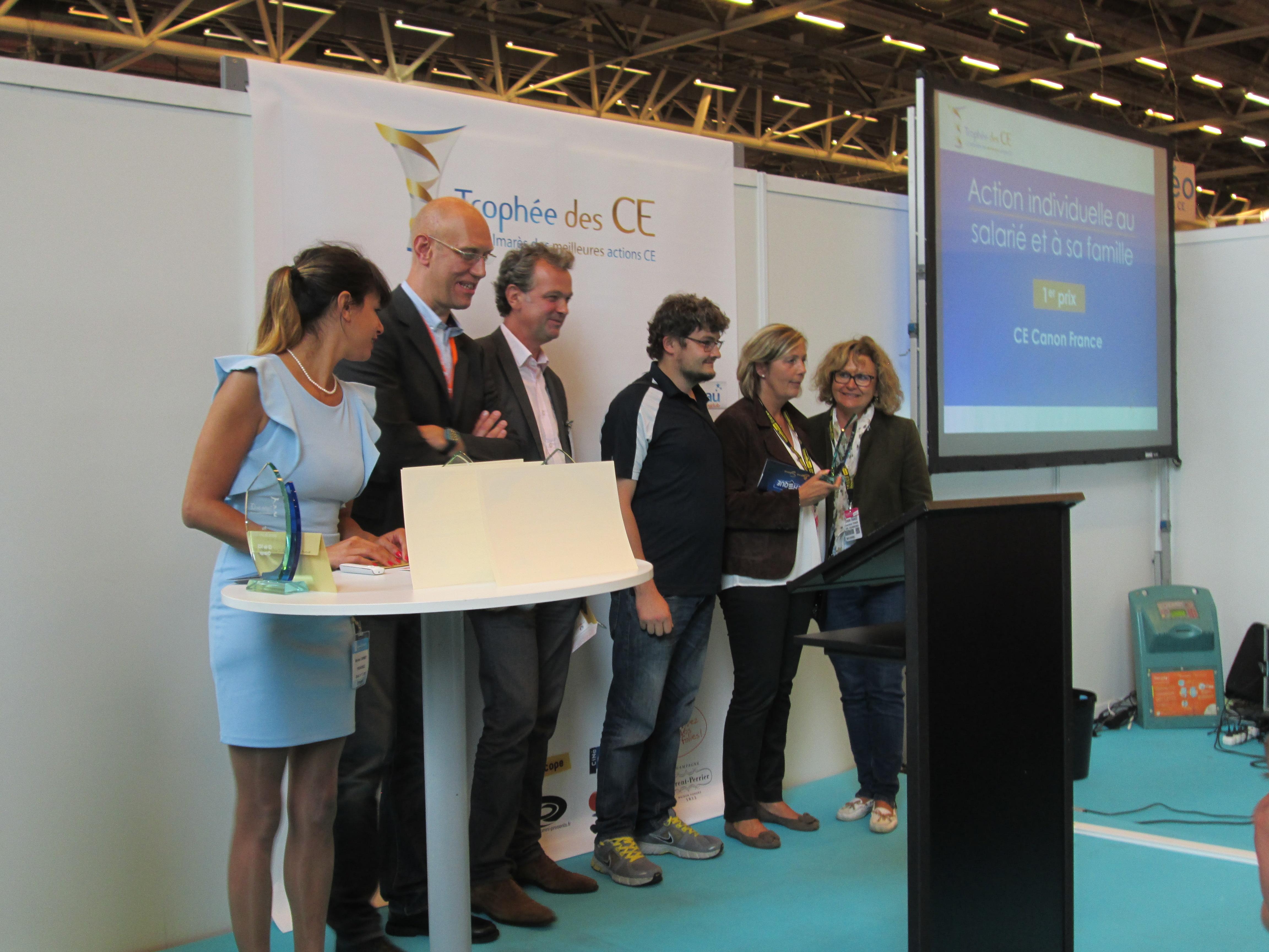La remise des Trophées annuels des CE remis au SalonsCE d'automne de Paris - DR : M.S.