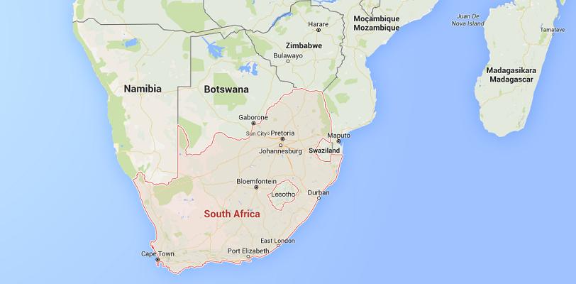 En Afrique du Sud, de nouvelles mesures sont en vigueur depuis le 1er juin 2015 pour l'entrée de mineurs sur le territoire national - DR : Google Maps