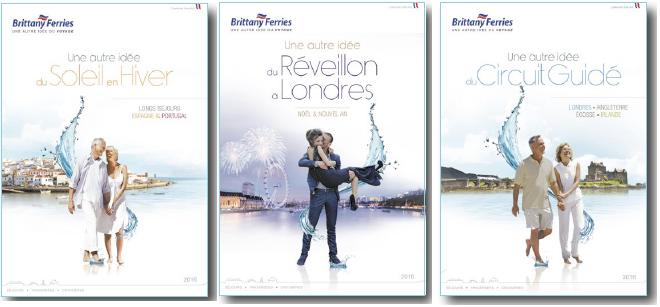Brittany sort 3 nouvelles brochures pour 2016 - DR : Brittany Ferries