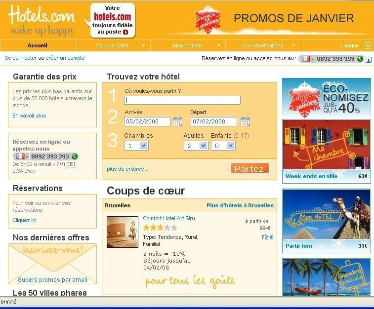 Hotels.com lance sa nouvelle version en France