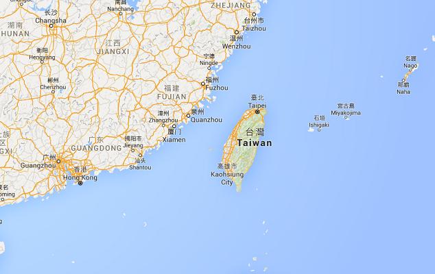 Le super-typhon a touché Taïwan lundi et sera en Chine mardi - DR : Google Maps