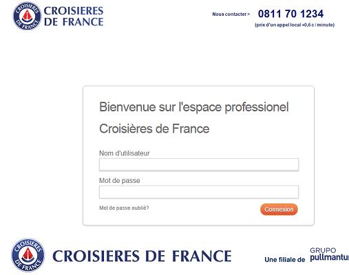 Le nouveau site pro de Croisières de France sera présenté sur l'IFTM 2015 - Capture d'écran