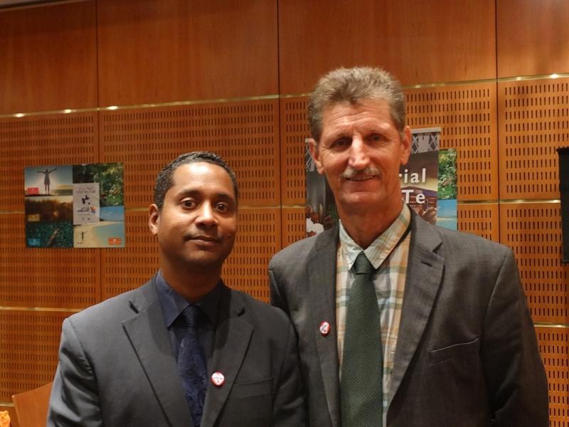 Willy Rosier, directeur du CTIG (à gauche) et de Hilaire Brudey, président du CTIG (à droite) - Photo : J.B.H.