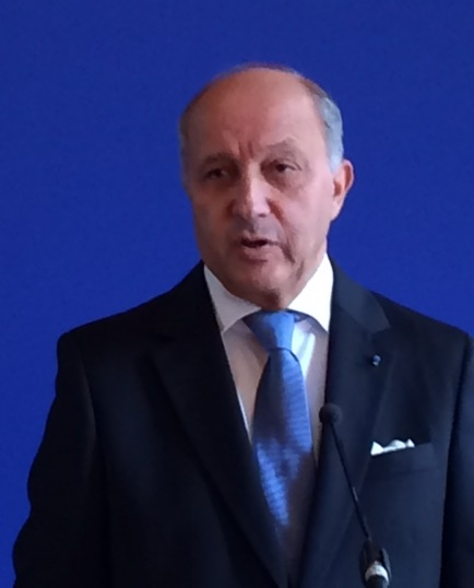 Laurent Fabius, ministre des affaires étrangères et du développement international - Photo D.G.