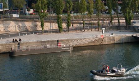 Port de Paris ouvre une nouvelle escale près du nouveau centre commercial de Beaugrenelle - Photo : HAROPA - Port de Paris