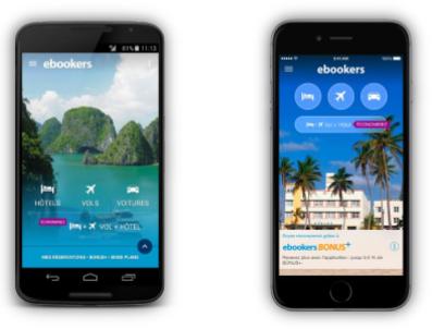 Ebookers lance la résa vol + hôtel sur son appli mobile