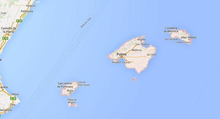 Les touristes qui viennent aux Baléares devront payer entre 50 centimes et 2 euros par jour - DR : Google Maps