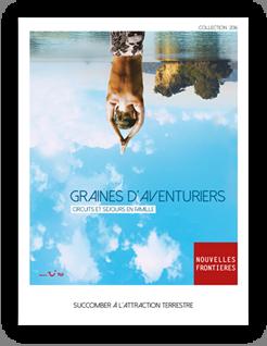 """Nouvelles Frontières profitera de Kidexpo pour présenter sa nouvelle brochure """"Graines d'Aventuriers"""" - DR : Nouvelles Frontières"""