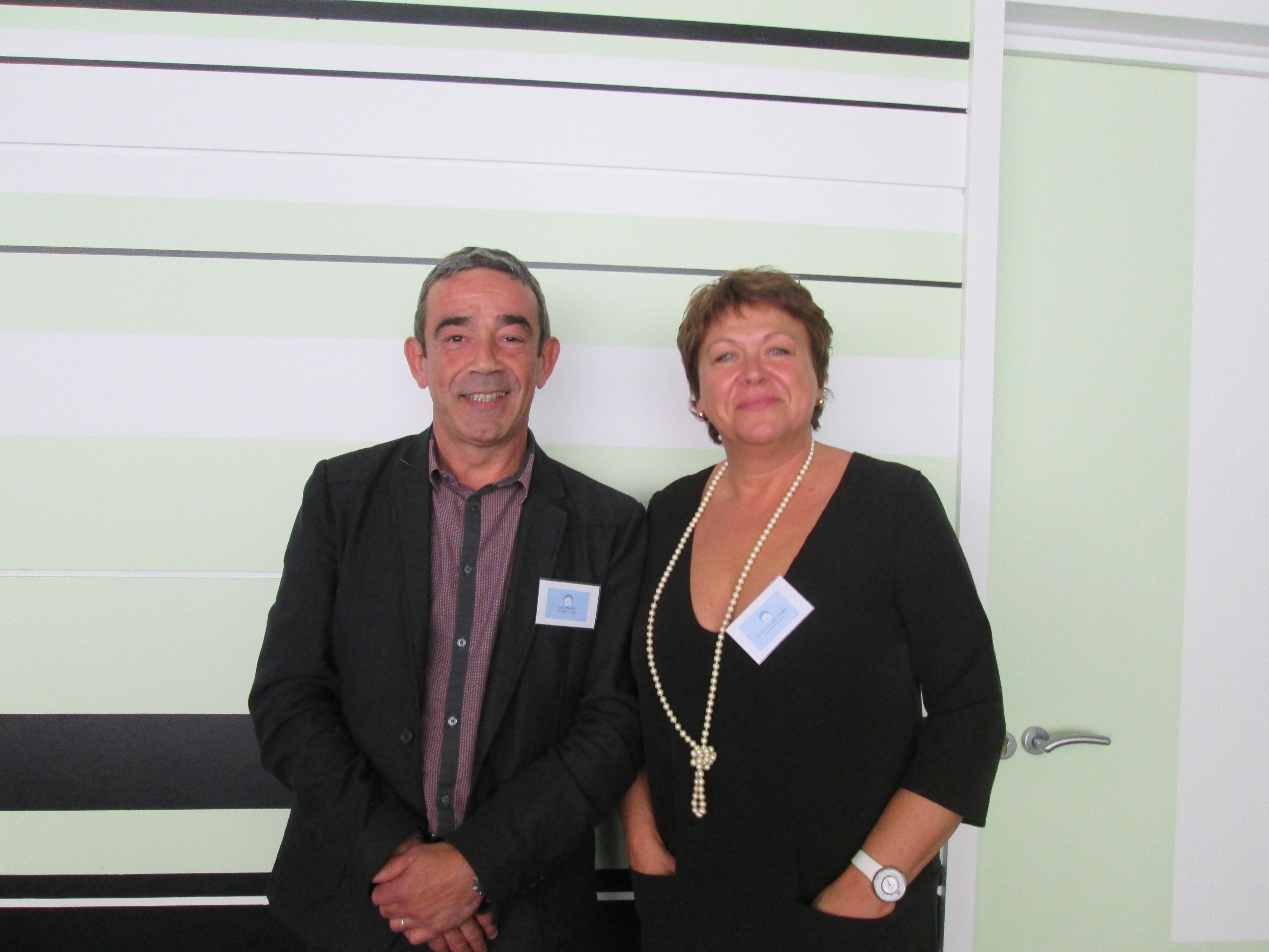 Marie-Lyse Zielinski, présidente de Clévacances, elle-même propriétaire de chambres d'hôtes dans le Gard et Jean Boyer, directeur du réseau - DR : M.S.