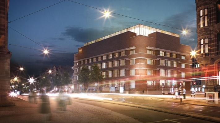 Le W Amsterdam est situé près de la place du Dam et du Palais Royal - Photo : W Hotels Worldwide