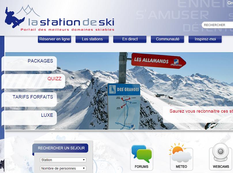 LaStationdeSki.com s'apprête à vivre son 3e Hiver en 2015/2016 - Capture d'écran