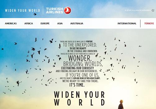 Turkish Airlines cherche à faire parler d'elle sur les réseaux sociaux - Capture d'écran