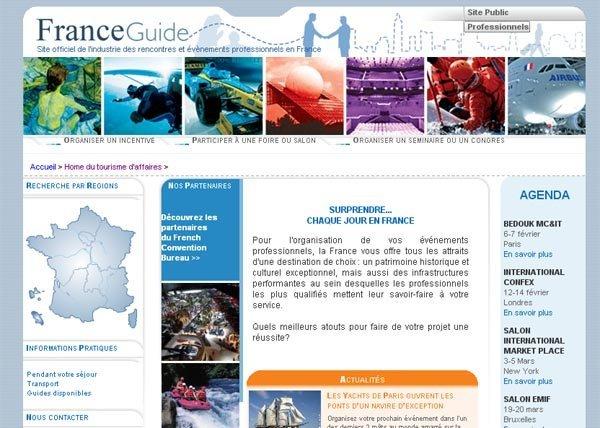 Le nouveau site web franceguidepro.com