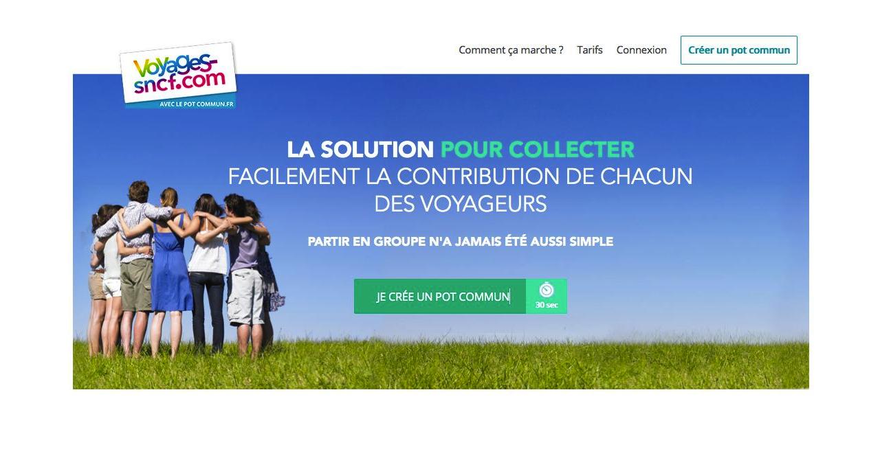voyages-sncf et lepotcommun.fr proposent un système de paiement collaboratif - (c) capture voyages-sncf
