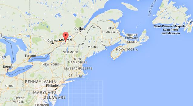 La fréquentation touristique de Montréal a nettement progressé pendant l'été 2015 - DR : Google Maps
