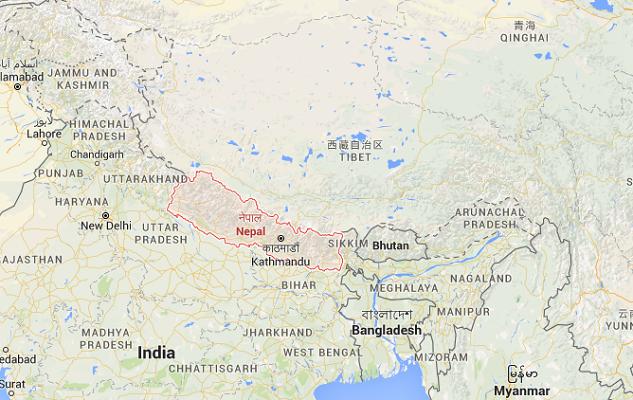 La situation est actuellement très tendue au Népal - DR : Google Maps