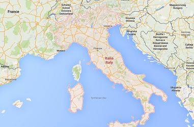 La grève des contrôleurs aériens italiens devraient perturber le trafic aérien mardi 24 novembre 2015 - DR : Google Maps