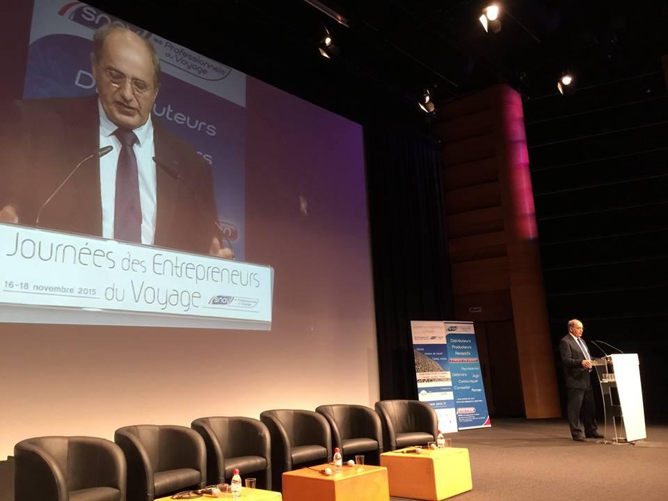 Jean-Pierre Mas, le président du SNAV, appelle à la résistance face au terrorisme. DR-JDL