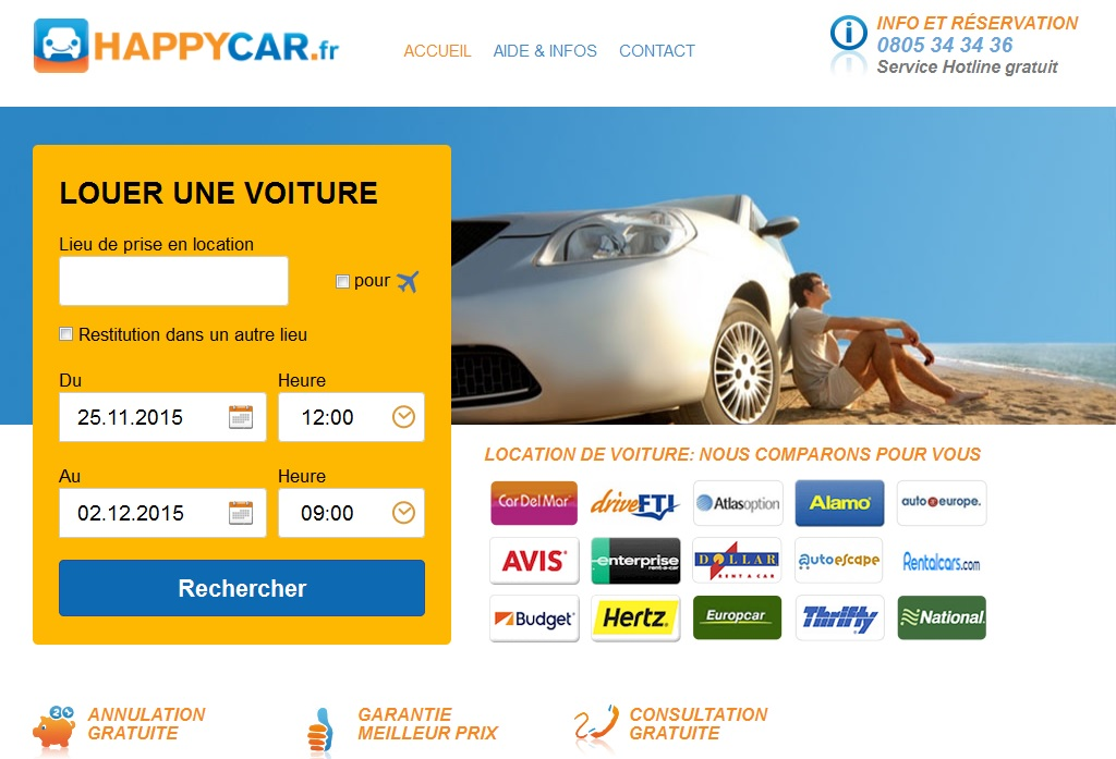 La plateforme HappyCar - Capture HappyCar