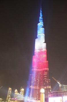 Tour Burj Khalifa aux couleurs de la France - Photo RK