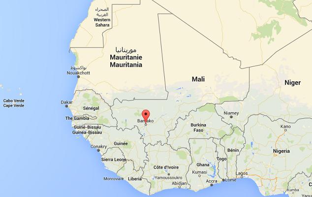 Des tirs ont été entendus depuis l'extérieur de l'hôtel à Bamako - DR : Google Maps