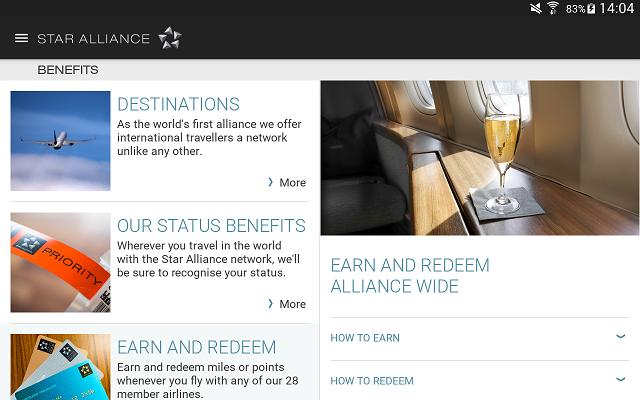La nouvelle version du site Internet de Star Alliance s'adapte à la taille des écrans sur lesquelles elle est consultée - Capture d'écran
