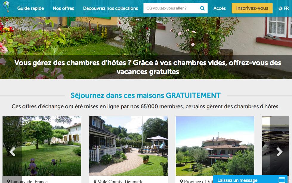La page d'accueil de TrocMaison.com destinée aux professionnels - (c) capture