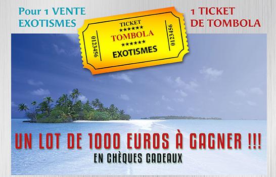 Tombola de Noël : Exotismes met en jeu un lot de 1000 € en chèques cadeaux