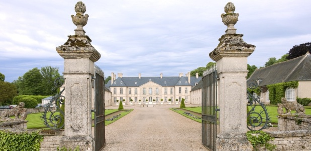 The main courtyard of the Château d'Audrieu