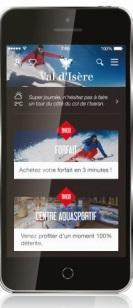 L'Appli Val d'Isère donne des informations et permet de réserver sur mobile - Photo DR