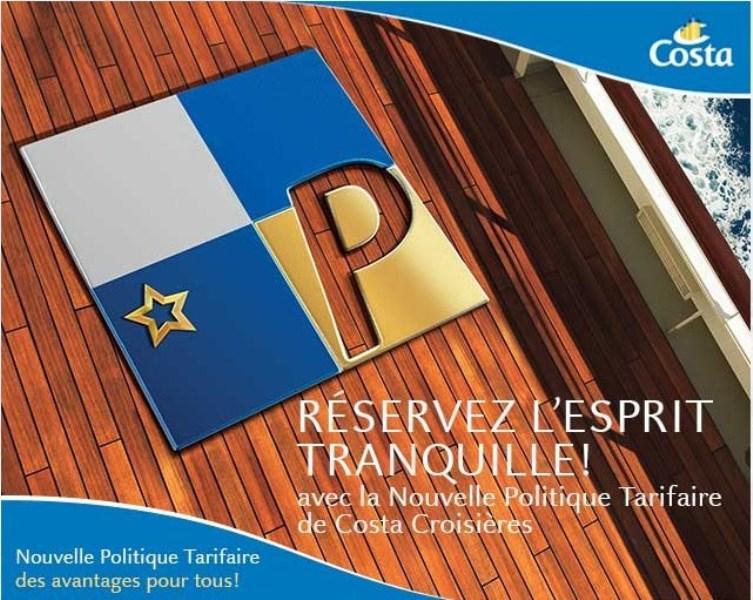 Costa Croisières veut inciter ses clients à réserver plus de 90 jours à l'avance - DR : Costa Croisières