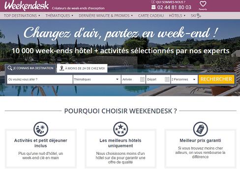 Les ventes de Weekendesk s'envolent pendant les Fêtes - Capture d'écran
