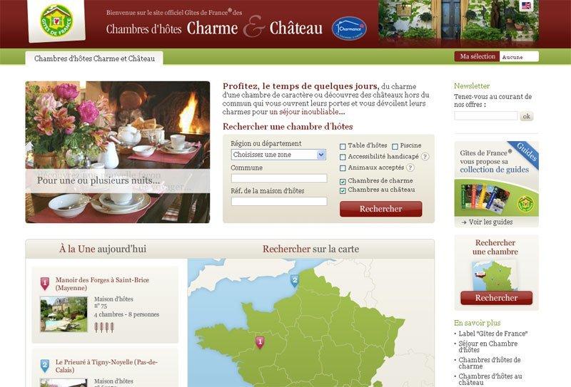 Nouveau site Gites-de-france-charme.com