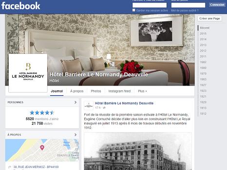 Le jeu se déroule sur la page Facebook de l'hôtel Le Normandy - Capture d'écran