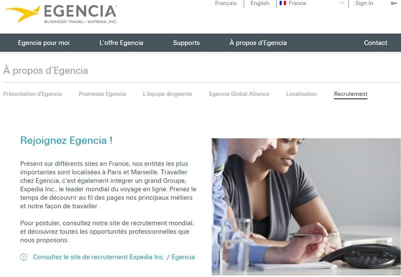 Egencia : 60 postes à pourvoir en CDI pour 2016