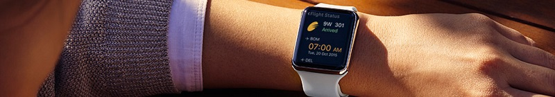L'application Jet Airways est disponible sur l'Apple Watch (c) Jet Airways