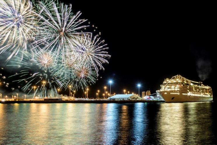 Le MSC Musica naviguera de Dubaï à Abu Dhabi, aux Emirats Arabes Unis, au cours d'une série de croisières de sept nuits - DR : MSC Croisieres