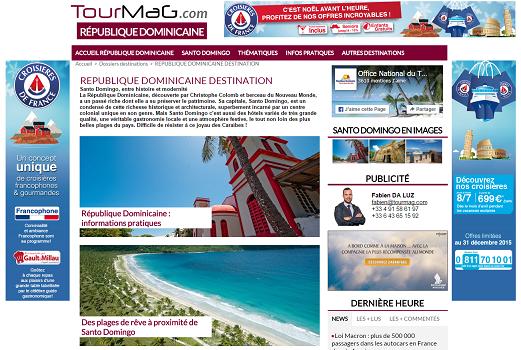 Le dossier destination de la République Dominicaine présente Santo Domingo - Capture d'écran