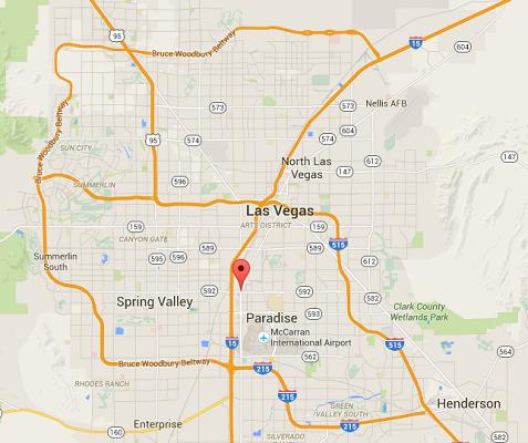 L'accident s'est produit sur le Strip, une partie du Las Vegas Boulevard - DR : Google Maps