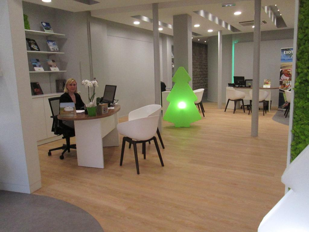 L'intérieur de l'agence Verdié de Paris- Photo DR