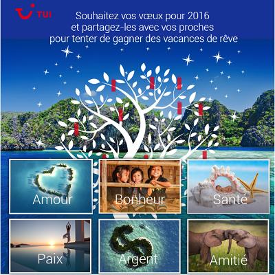 TUI permet aux internautes d'envoyer des vœux personnalisés sur le thème du voyage - DR : TUI