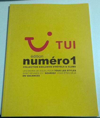 La brochure TUI édition numéro 1 avec les hôtels et les clubs du groupe débarque en agences de voyages - Photo P.C.