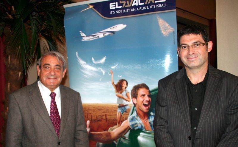 Izy Cohen, directeur général d'El Al pour l'Europe de l'Ouest et Gilles Tetelbom, délégué commercial région Sud,