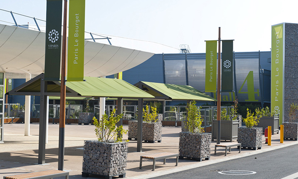 Le Parc des Expos de Paris-Le Bourget a accueilli près de 40 000 personnes pendant la COP 21 - Photo : Viparis