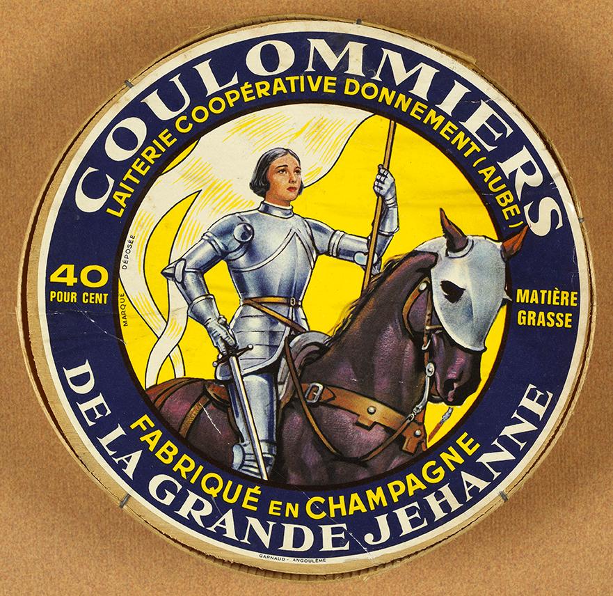 Boite de Coulommiers à l'effigie de Jeanne d'Arc (Collections Bibliothèque Municipale de Rouen)