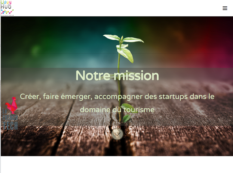 Les start-ups peuvent candidater sur le site de Uppy Hub pour rejoindre l'accélérateur - Capture d'écran