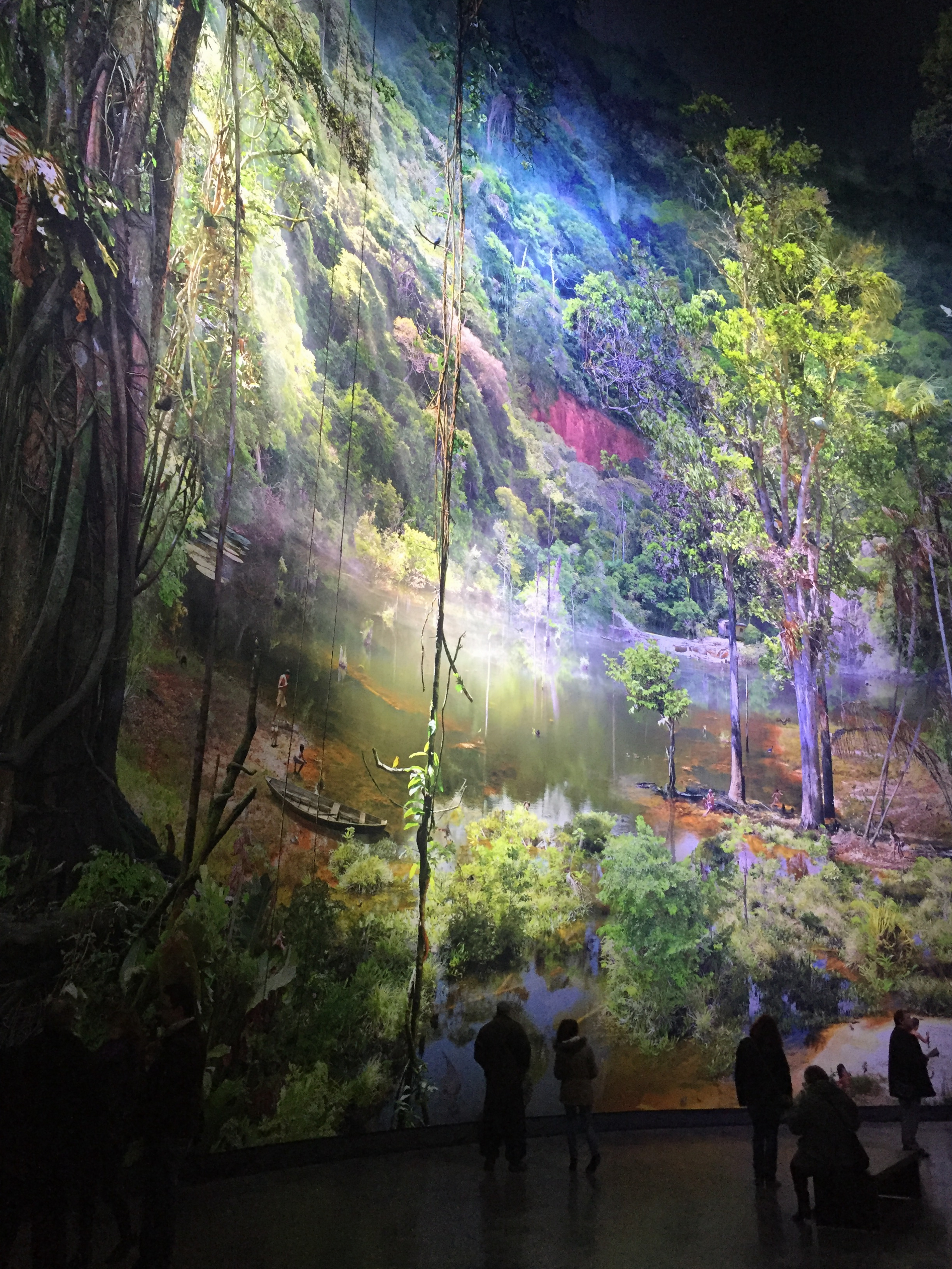 Le panorama Amazonia à l'intérieur de la Rotonde au Panorama XXL