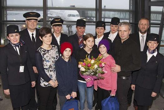 Icelandair a célébré sa 3 millionième passagère de l'année 2015 le 17 février 2015 - Photo : Icelandair