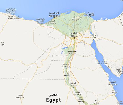 Les touristes mexicains et leurs accompagnateurs égyptiens avaient été tués par l'armée alors qu'ils se trouvaient dans une zone désertique de l'Ouest de l'Egypte - DR : Google Maps